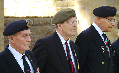 Veterans of the Italy Star Association 1943-1945, John Dennett, Doug Weyhaupt, Frank Horn