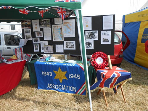 Italy Star Association 1943-1945 display boards, opening day, War and Peace Revival